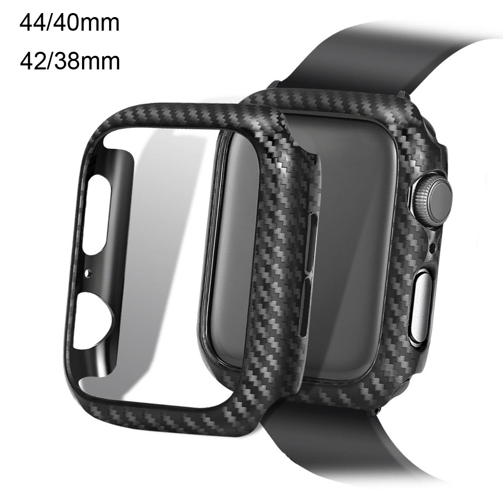 Ultra Thin Carbon Fiber For <font><b>Apple</b></font> <font><b>Watch</b></font> 44MM 40MM <font><b>Case</b></font> Protective Frame For iWatch Series 5 4 <font><b>3</b></font> 2 1 42MM <font><b>38MM</b></font> Bumper Cover image