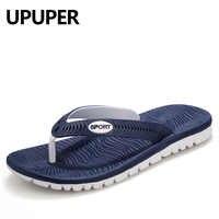 UPUPER Sommer Männer Flip-Flops Männlichen Gemischt Farbe Hausschuhe Männer Casual PVC EVA Schuhe Sommer Mode Strand Sandalen Größe 40 ~ 45
