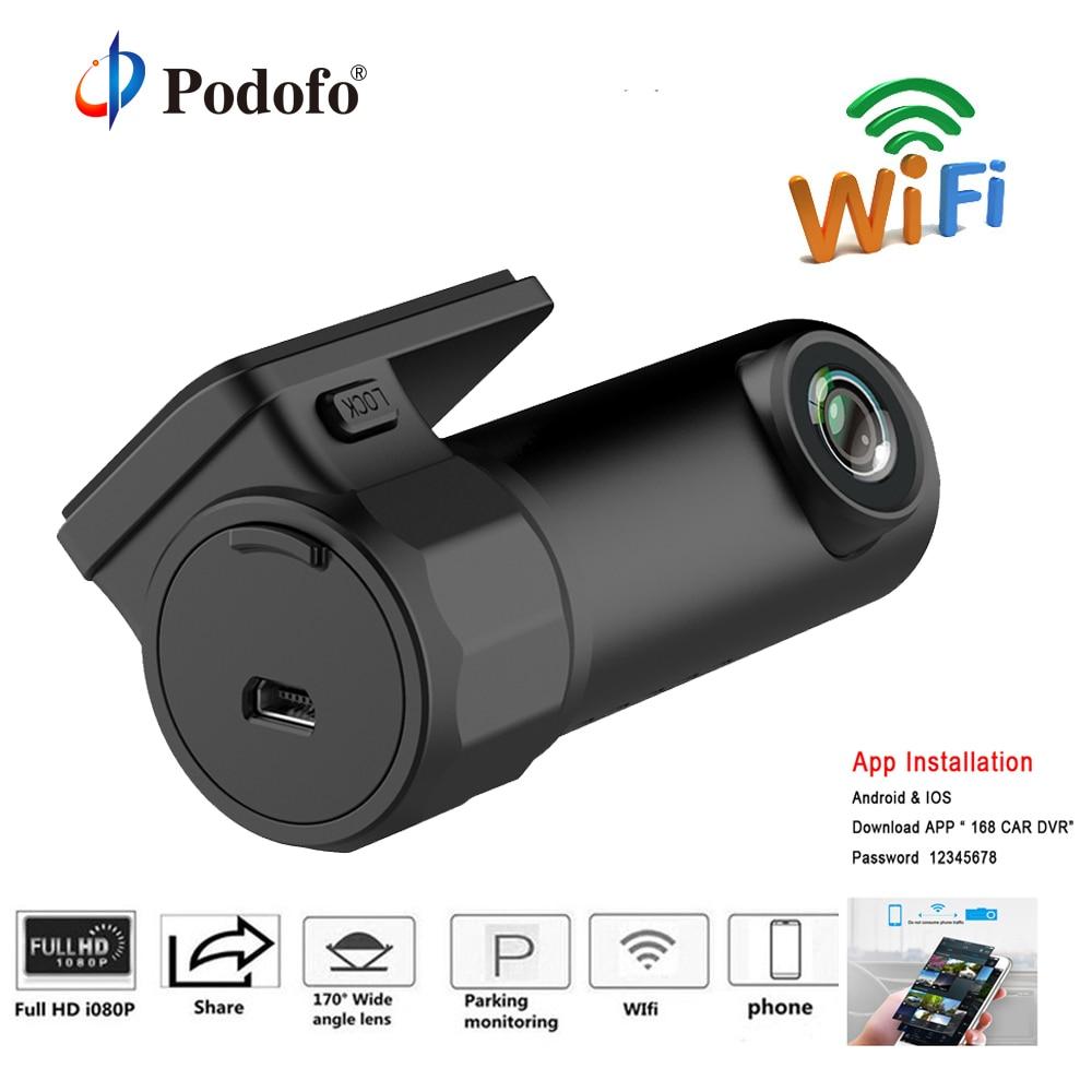 Podofo Mini WiFi Car DVR Camera Wrieless Dash Cam Sony IMX323 Video Recorder Digital Registrar Auto Camcorder APP Monitor DVRs