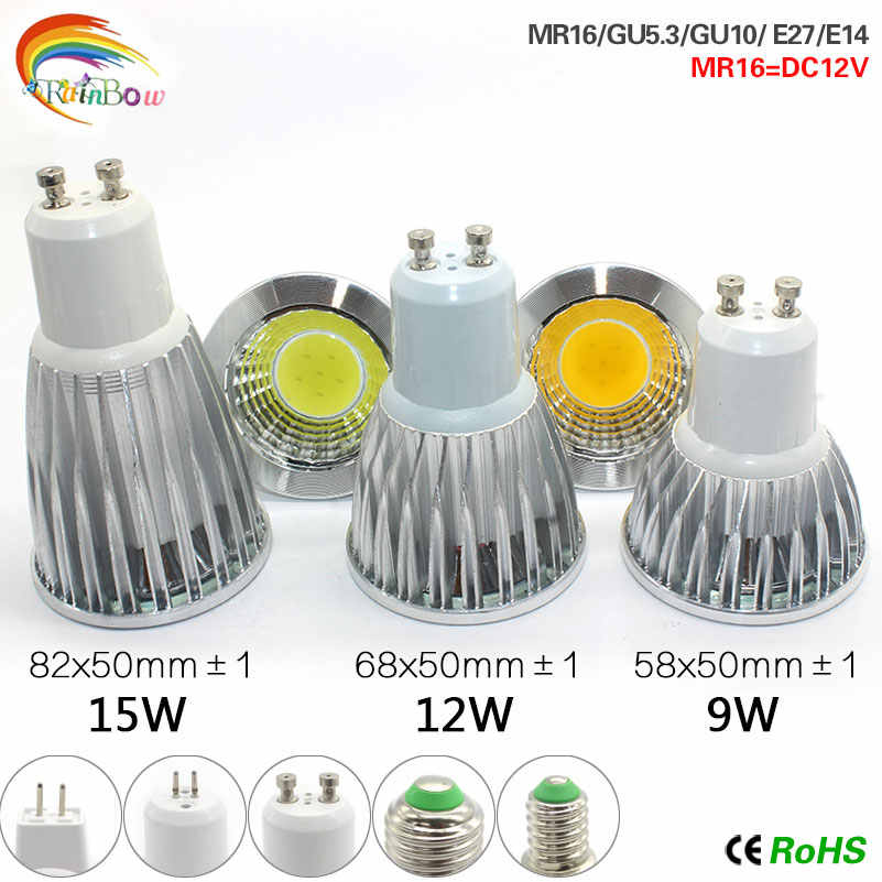 A+++ Energy Lowest price LED Bulbs Dimmable Led Light 85-265V 9W 12W 15W E27 COB LED lamp light Gu10 e27 E14 MR16 led Spotlight
