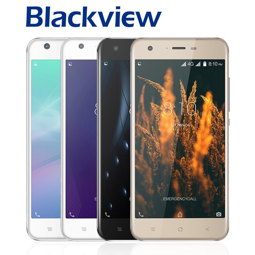 Blackview A7 Pro Smartphone MT6737 Quad Core 5.0 HD Écran 2 GB RAM 16 GB ROM Téléphone Portable Double Arrière Caméra Android 7.0 Téléphone Mobile