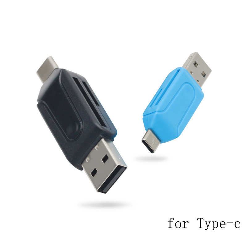 FFFAS 2 in 1 Multi-function USB2.0 USB SD TF Card Reader and Type-c OTG Cable Adapter for Huawei Smartisan Laptop Computer PC