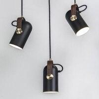Modern Pendant lights Metal Black pendant lamps For Living Room Kitchen LED Spotlights hanglamp Indoor Lighting Light Fixtures