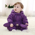 winter baby clothing thick warm fall and winter clothes newborn baby outside in winter climbing clothing Romper suits padded