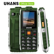 Uhans V5 Waterproof phone shockproof Elder cell phone Dual sim 2500Mah power bank Big box speaker Flashlight Child Mobile phone