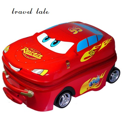 Travel Tale 100% PC 18 Inch Rolling Luggage Spinner Easily Cartoon Car Luggage Can Sit Suitable For Children