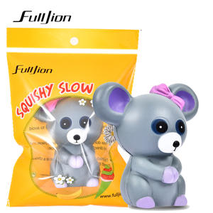 Fulljion Squish Antistress Squishy Slow Rising Rat Novelty Gag Toys Stress Relief Toys Entertainment Animals Squeeze Fun Gadgets