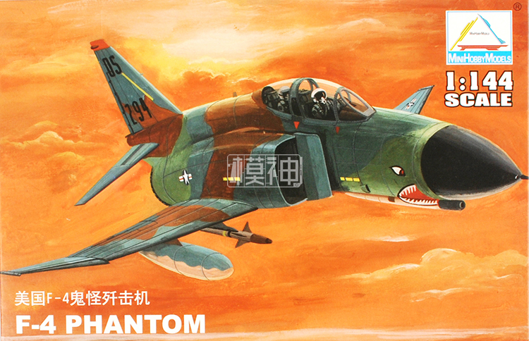 1: 144 USA F4 PHANTOM Ghost Fighter Military Assembly Airplane Air Force Model 80418