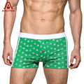 A ARCITON Cotton Nautical Style Underwear Men Compass Anchor Retro Printed Underwears With Crotch Buttons Boxer Shorts(N-809)