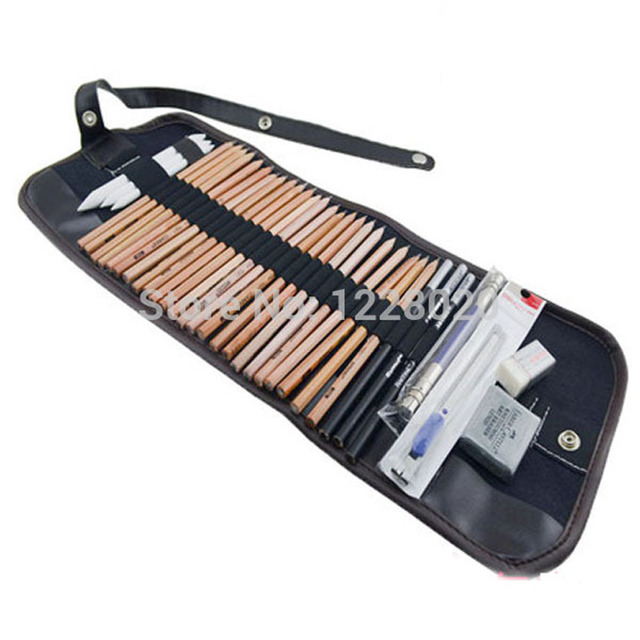 Authentic drawing pencil set sketch set drawing charcoal pencil eraser tool kit beginner art supplies sketch