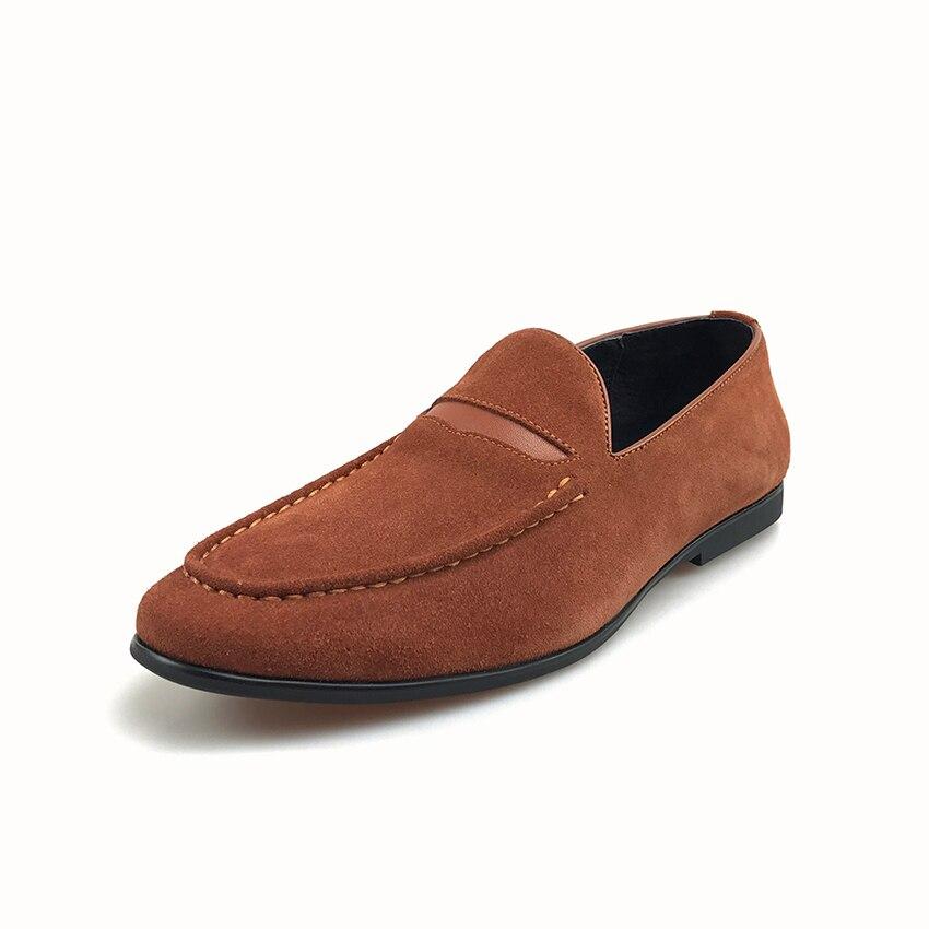 Moda Oficina Brown Los La Gamuza Más Cuero Zapatos Hombres Verano Masculinos Casuales Nuevo Mocasines Slip Cómodo Grimentin Negocios 2019 on Lujo De aHUXx1nq