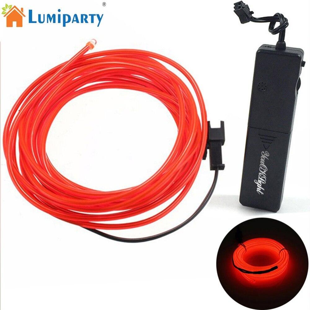 LumiParty 1,75 м 1 Вт звук Сенсор EL холодный свет строка велосипед автомобиль сумка DIY украшения ...