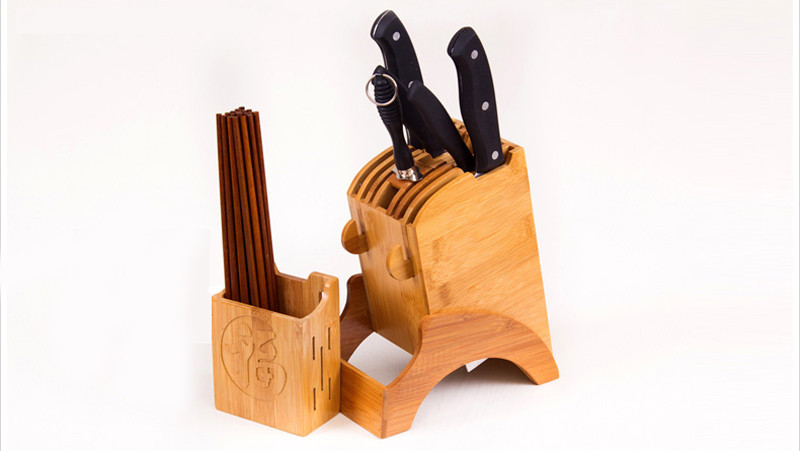 Creative Bamboo Kitchen Knife Holder Multifunctional Kitchen Accessories Storage Rack Tool Holder Knife Stand Knife Rack11