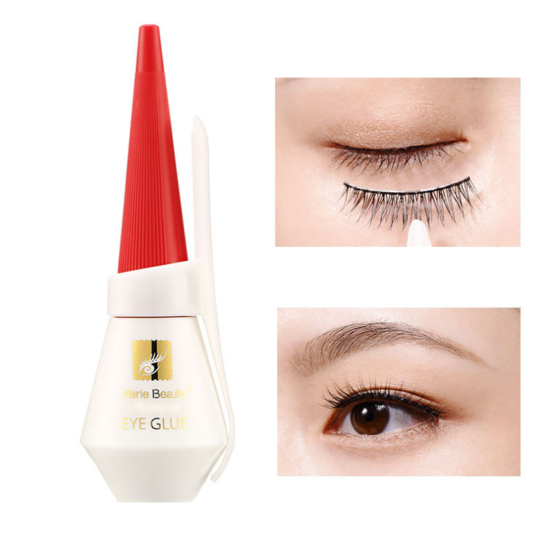 12ml Clear Eyelash Glue Waterproof Lash Glue Mink Eyelashes Glue Eye Lash Adhesive Black False Eyelash Accessories Cosmetic Tool