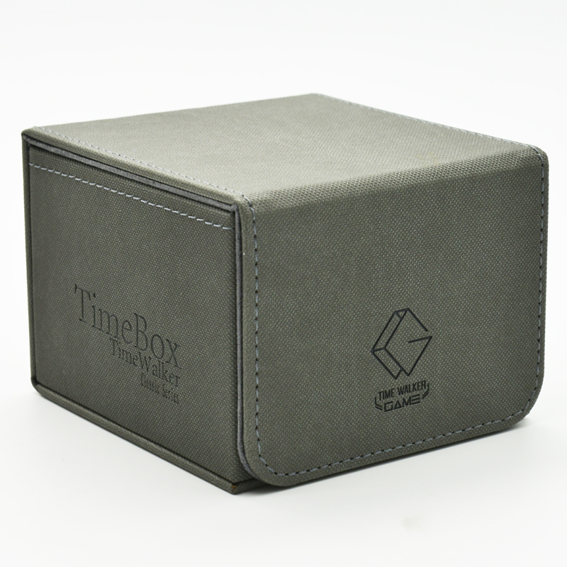 TW Hand Made Wooden Lined FUN BOX Fan Box EDH Large Capacity Card Magic Commander Card Deck Case Holding 120-240 Cards