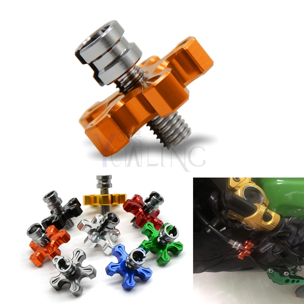 M8 * 1.25 cnc aluminum motorcycle clutch wire adjustment cable For Kawasaki Ninja 650R ER-6F ER-6N ER6F ER6N ninja300