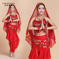 2016 Oriental Dance Costumes Bollywood Indian Dress Belly Dance Suit Women India Dancing Costumes Performance Dress  B-2209