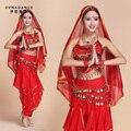 2016 Trajes de Dança de Bollywood Indiana Oriental Vestido Mulheres Terno de Dança India Dança Do Ventre Vestido Desempenho Trajes B-2209