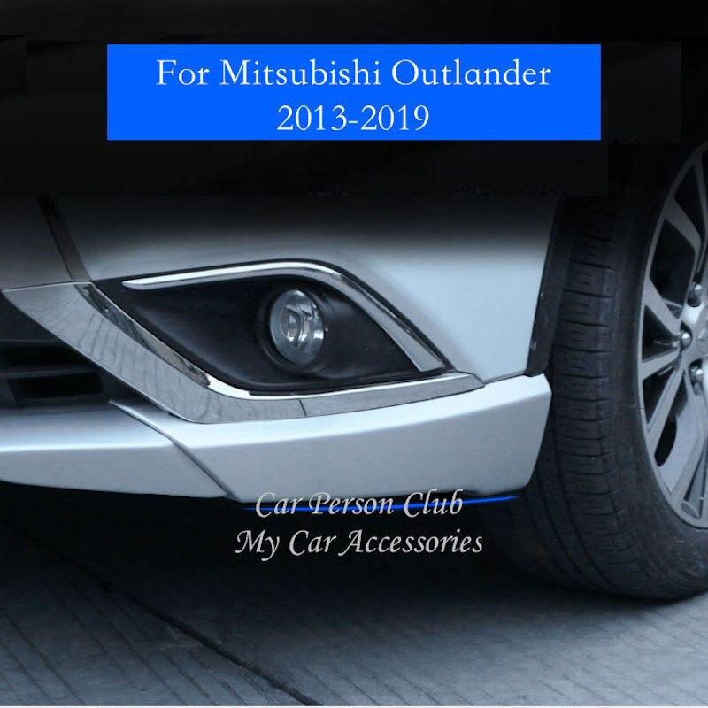 For Mitsubishi Outlander 2013-2019 Front Bumper Corner Cover Anti-collision Guard Protector Front Guard Trims Car Accessories