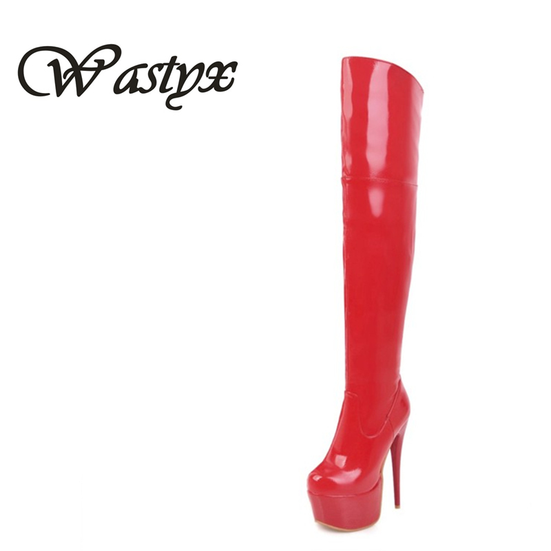 Wastyx new over the knee high boots fashion high heels women boots sexy super heels shoes woman platform winter boots plus size wastyx new winter over the knee boots sexy super high women boots thin heel shoes woman fashion round toe sapato feminino 34 48
