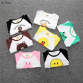 2016 Boy Girl Long/Full Sleeve T-Shirts Children Cotton O-Neck Tshirt Baby Kids Cartoon Animal Tees Infant Toddler T Shirt Cloth