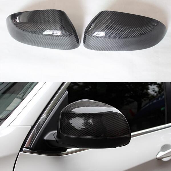 1:1 remplacement 3D autocollant style fibre de carbone vue latérale miroir couverture garniture pour BMW X3 F25 X4 F26 X5 F15 X6 F16 2014-2017