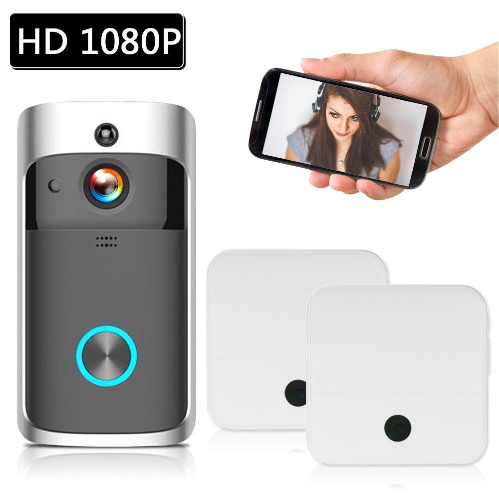 1080P Video Door Phone WiFi Smart Wireless Security DoorBell Smart Visual Intercom Recording Remote Home Monitoring