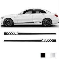 Cá nhân kế xe nhãn dán Side Váy Decal Sticker Cơ Vòng Hoa cho Mercedes Benz W205 Coupe C Class C63 AMG