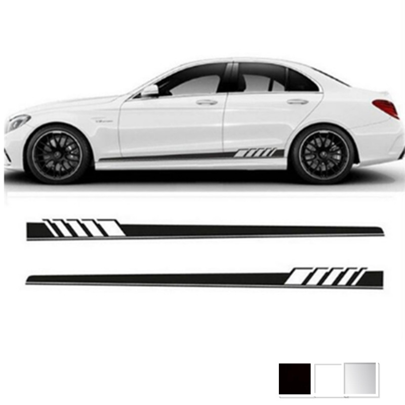 Personalized car styling sticker Side Skirt Decal Sticker  Body Garland for Mercedes Benz W205 Coupe C Class C63 AMG