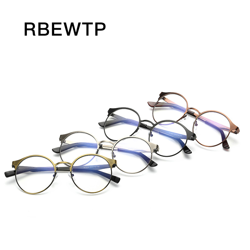 Unisex Blue Light Blocking Glasses Computer Goggles led Reading Radiation-resistant Clear Round Gaming Glasses Frame Eyewear