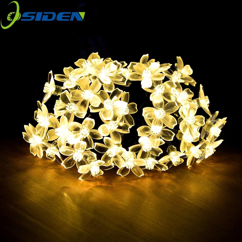 220v /110v Power Fairy String Lights 5m 20m 10m 100 LED Peach Blossom Decorative Garden Lawn Patio Christmas Trees Wedding Party