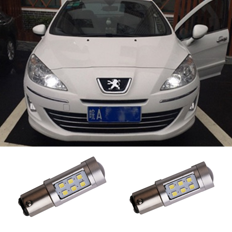 LED DRL Driving Daytime Running Day Fog Lamp Light For peugeot 408 peugeot 308 RCZ Citroen C4L Fiat Viaggio