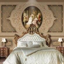 Европейский ретро искусство Роскошные фотообои Фреска для стен 3D гостиная ТВ диван фон настенное покрытие домашний декор настенная ткань