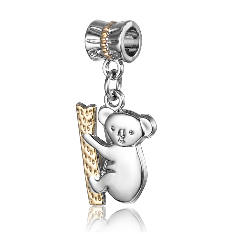 Silver Plated Angel Hanging Bead Charm