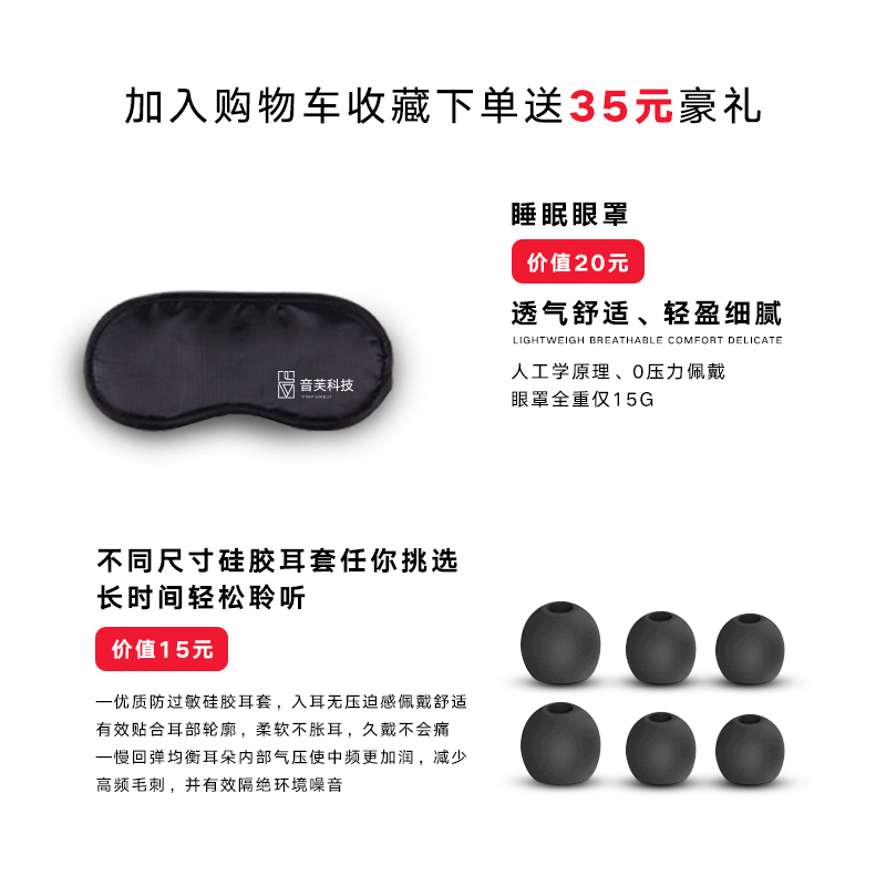 YINFU GN-18 In-Ear Mini Metal Earphone Subwoofer Earplug with wheat wire-controlled sleep headset compatible phone computer