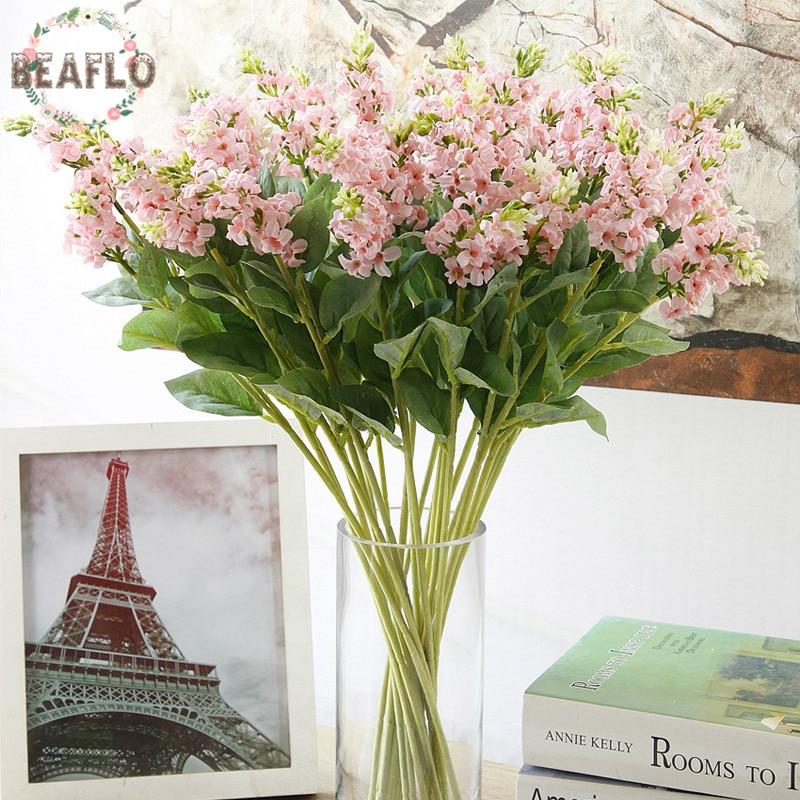 1 UNID Flores Artificiales 2 Cabezas de Lavanda Flor De Seda Arreglo Floral de L