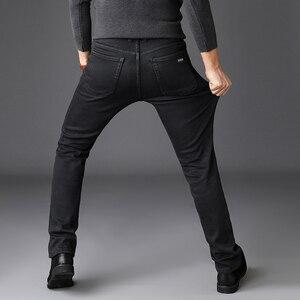 Image 3 - 2019 Zwart Grijs Merken Jeans Broek Mannen Kleding Zwarte Jeans Fashion Casual Klassieke Stijl Elastische Kracht Skinny Broek Mannelijke