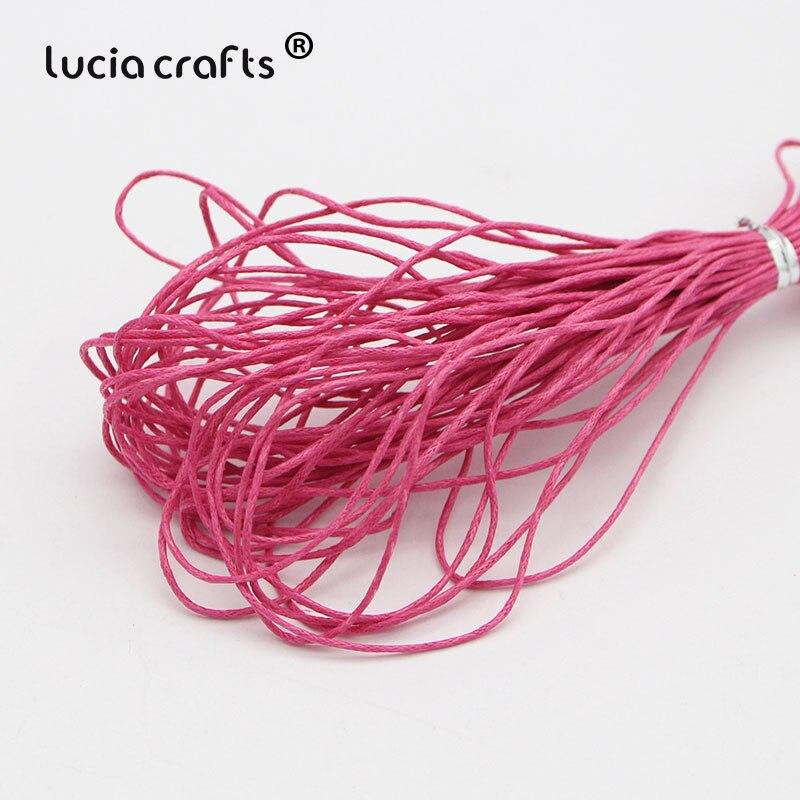 1 мм вощеная нить, хлопковый шнур, веревка, ожерелье, бусы, веревка, цвета, как показано на картинке(10 лет/Лот) W0703 - Цвет: Color 7