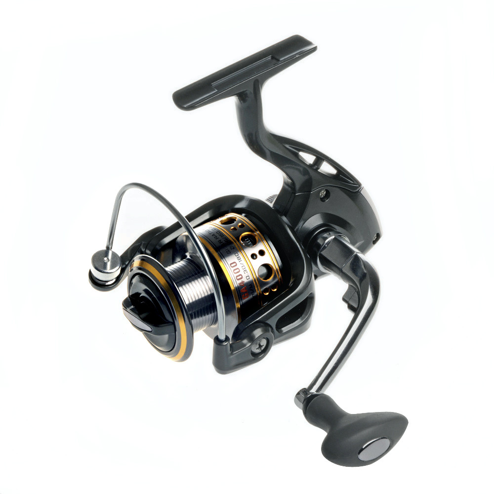 Hot sale 12 1 bearing balls spinning reel fishing reel for Fishing line on reel
