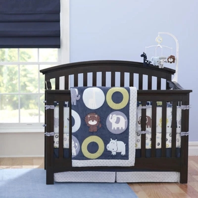7 Piece Bedroom Newborn Baby Crib Bedding Set For BoysReactive And 3D Embroidery Quality