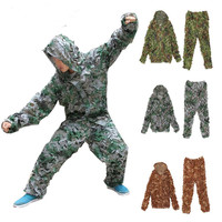Military Camouflage Netting Hunting Blind Uniform 150D Polyester Oxford Camo Outdoor Sportswear Clothes for Hunting Ghillie Suit
