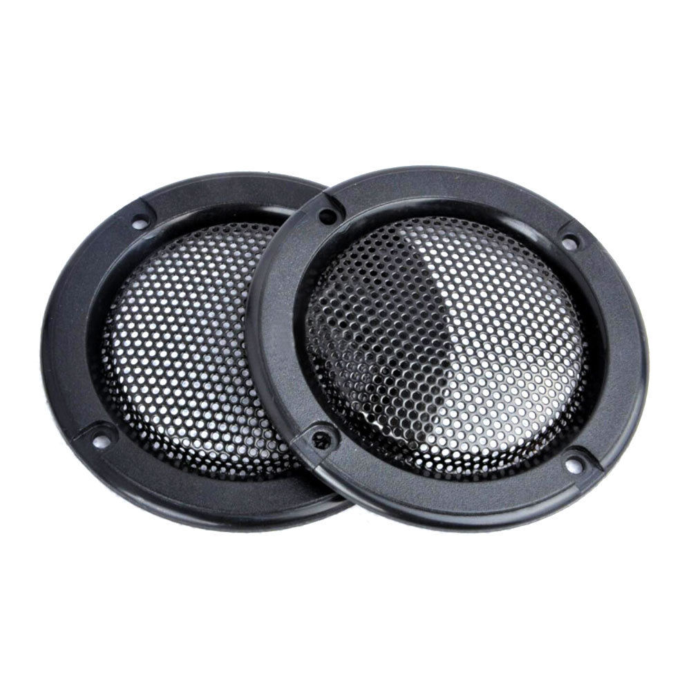 "2 pz / set decorativo 2 ""pollici tweeter audio copertura dell'altoparlante cerchio metal mesh griglia copre trim per universal cars for ford vw audi"