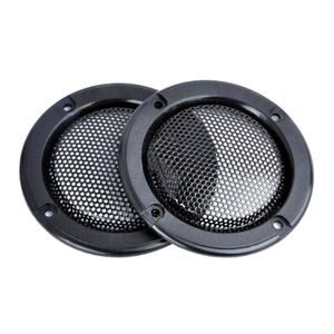 """2pcs/set Decorative 2"""" inch Tweeter Audio Speaker Cover Circle Metal Mesh Grille Covers Trim For Universal Cars for ford vw audi"""