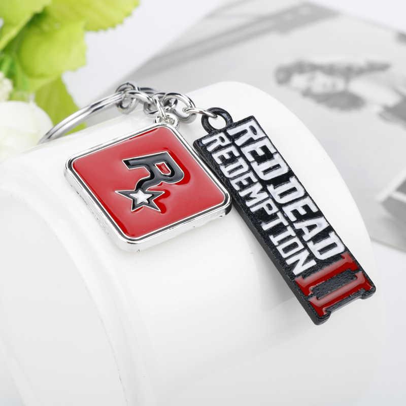 Dongsheng Red Dead 2 Redemption Sleutelhanger Rockstar Game Brief Hanger Metalen Sleutelhanger Houder Voor Mannen Vrouwen Auto Tas Sleutelhanger chain-50