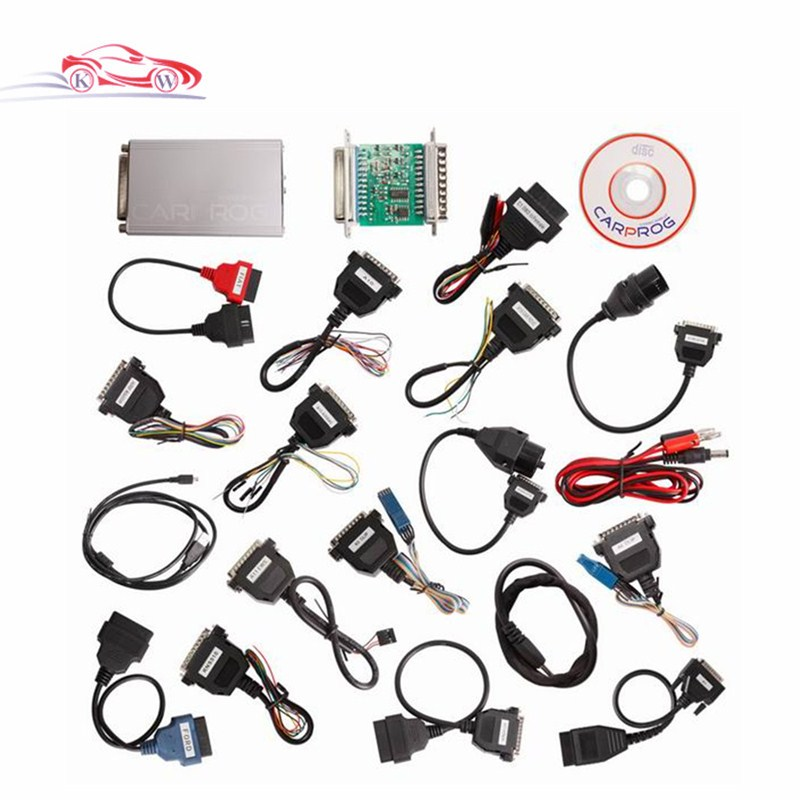 ФОТО Carprog V9.31 Carprog Full Newest Version (With All 21 Items Adapters) Professional CAR PROG Programmer with High Quality