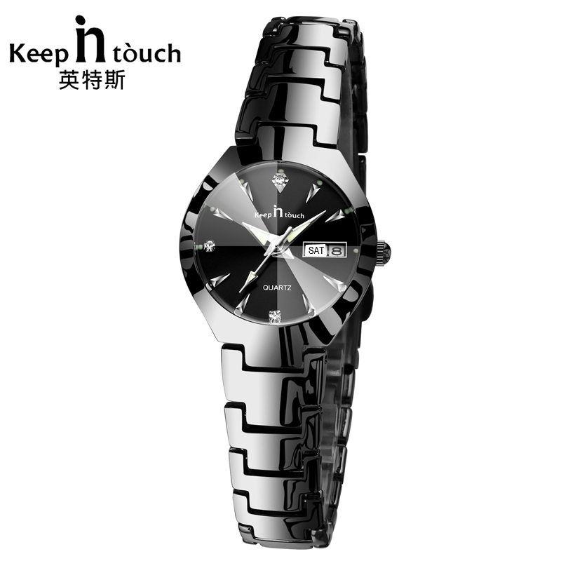 KEEP IN TOUCH Luxury Women Watches Rhinestone Top Brand Quartz Bracelet Dress Calendar Ladies Watch Luminous relogios feminino