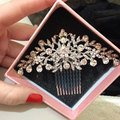 Top Quality New Fashion Wedding Hair Accessories For Bride Rhinestone Crystals Hair Comb Hair Pieces Hair Jewelry For Women XLL2