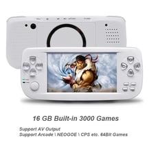 Новый 64 бит 4,3 дюймов Встроенный 3000 игр PAP K3 для CP1/CP2/GBA/FC/NEO /GEO формат игры Портативный HD портативной игровой консоли