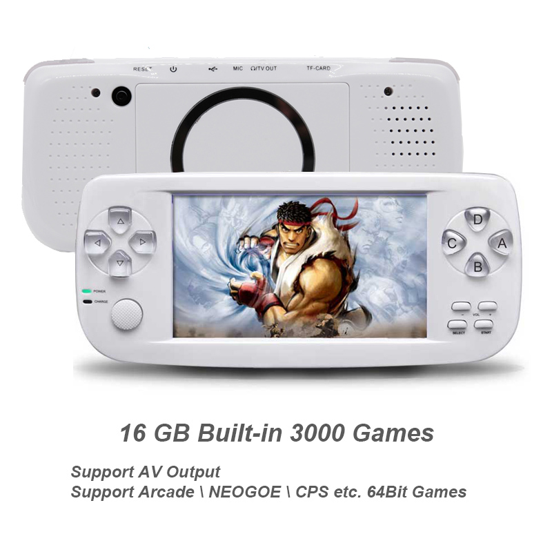 Nuevo 64 Bit 4,3 pulgadas incorporada de 3000 juegos PAP K3 para CP1/CP2/GBA/FC/NEO/GEO formato juegos HD portátil de mano consola de Video juegos