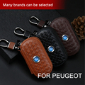Car Styling Key Case Weave Genuine Real Leather for Peugeot 307 206 308 407 207 4008 2008 508 406 208 Key Cover Case Accessories